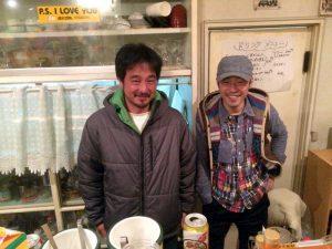 この夜たくさん美味しい料理を提供してくれた ドンシャカピーポーの2人イサ&ハヤト。ご馳走様でした。