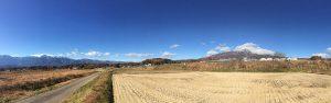 南アルプス甲斐駒ヶ岳から八ヶ岳まで、 スマホのパノラマモード